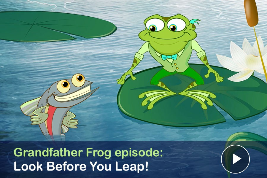 Watch: Look Before You Leap! Grandfather Frog Meets Red, the Redside Dace