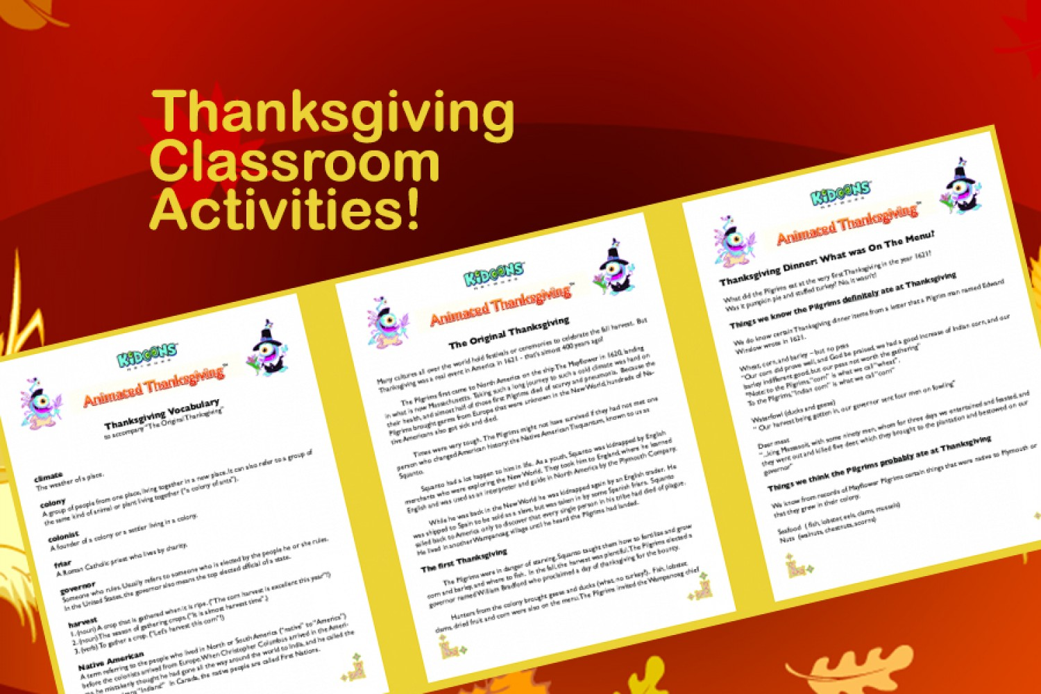 Classroom Ideas And Activities : Thanksgiving class activities for your students article