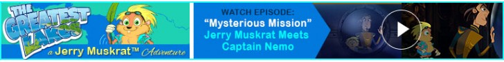 "Watch: ""Mysterious Mission"" - Jerry Muskrat's The Greatest Lakes Adventures"