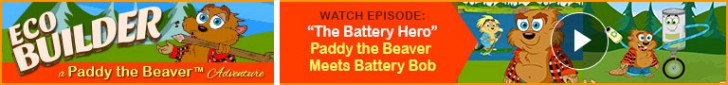 "Watch: ""The Battery Hero"" Paddy the Beaver Meets Battery Bob"