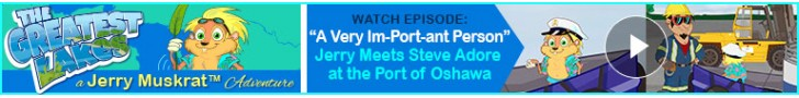 "Watch: ""A Very Im-Port-ant Person"" Jerry Meets Steve Adore at the Port of Oshawa"