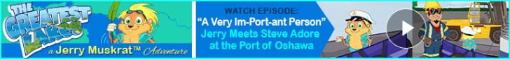"""Watch: """"A Very Im-Port-ant Person"""" Jerry Meets Steve Adore at the Port of Oshawa"""