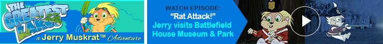 "Watch: ""Rat Attack!"" Jerry visits Battlefield House Museum & Park"