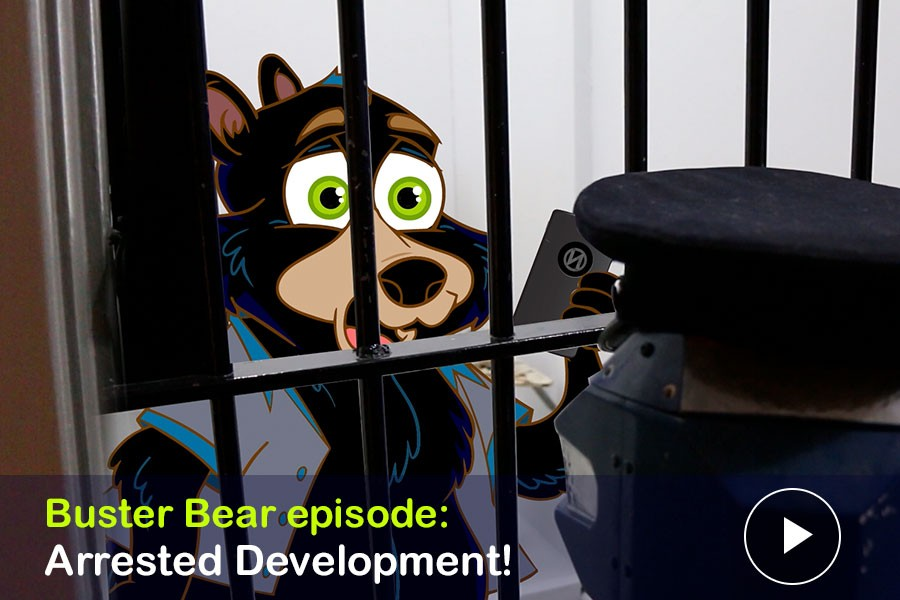 WATCH: Arrested Development! Buster Bear's Busted at The Vancouver Police Museum