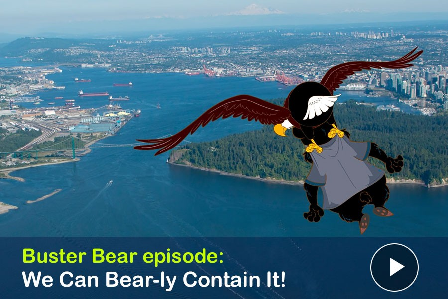 WATCH: We Can Bear-ly Contain It! Ethan Eagle gives Buster Bear a Bird's-Eye View of the Inlet