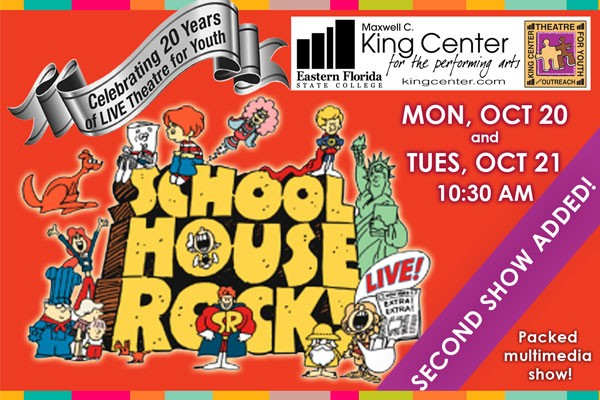 school house rock event item maxwell c king center for the performing arts. Black Bedroom Furniture Sets. Home Design Ideas