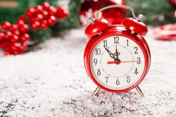 holiday hours stock photo