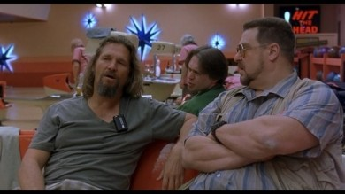 "Jeff Bridges (left) as Jeffrey Lebowski aka The Dude, Steve Buscemi (center) as Donny Kerabatsos and John Goodman as Walter Sobchak in ""The Big Lebows"