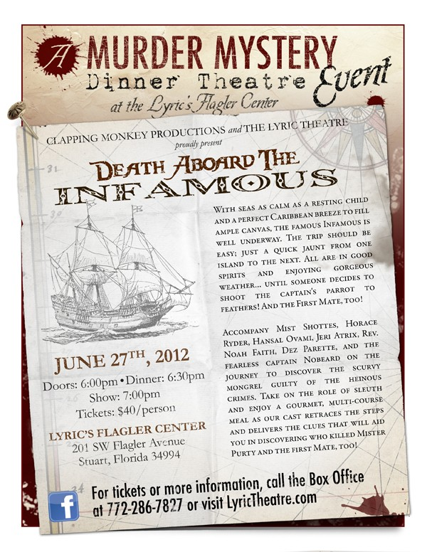 Murder Mystery Dinner Theatre: Death Aboard the Infamous