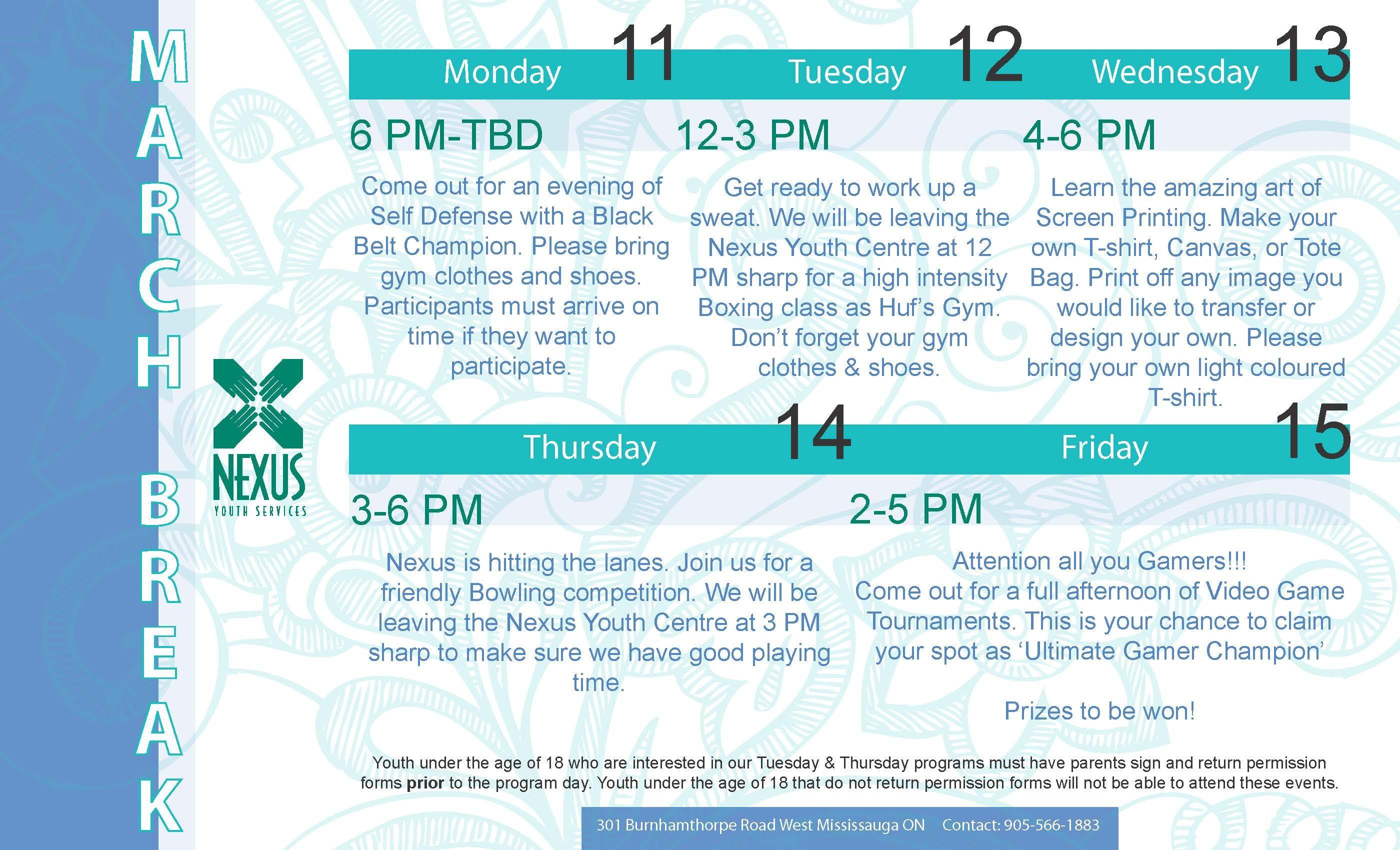 March Break 2013 Calendar
