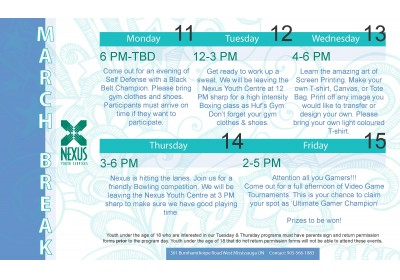 March Break 2013 Calendar