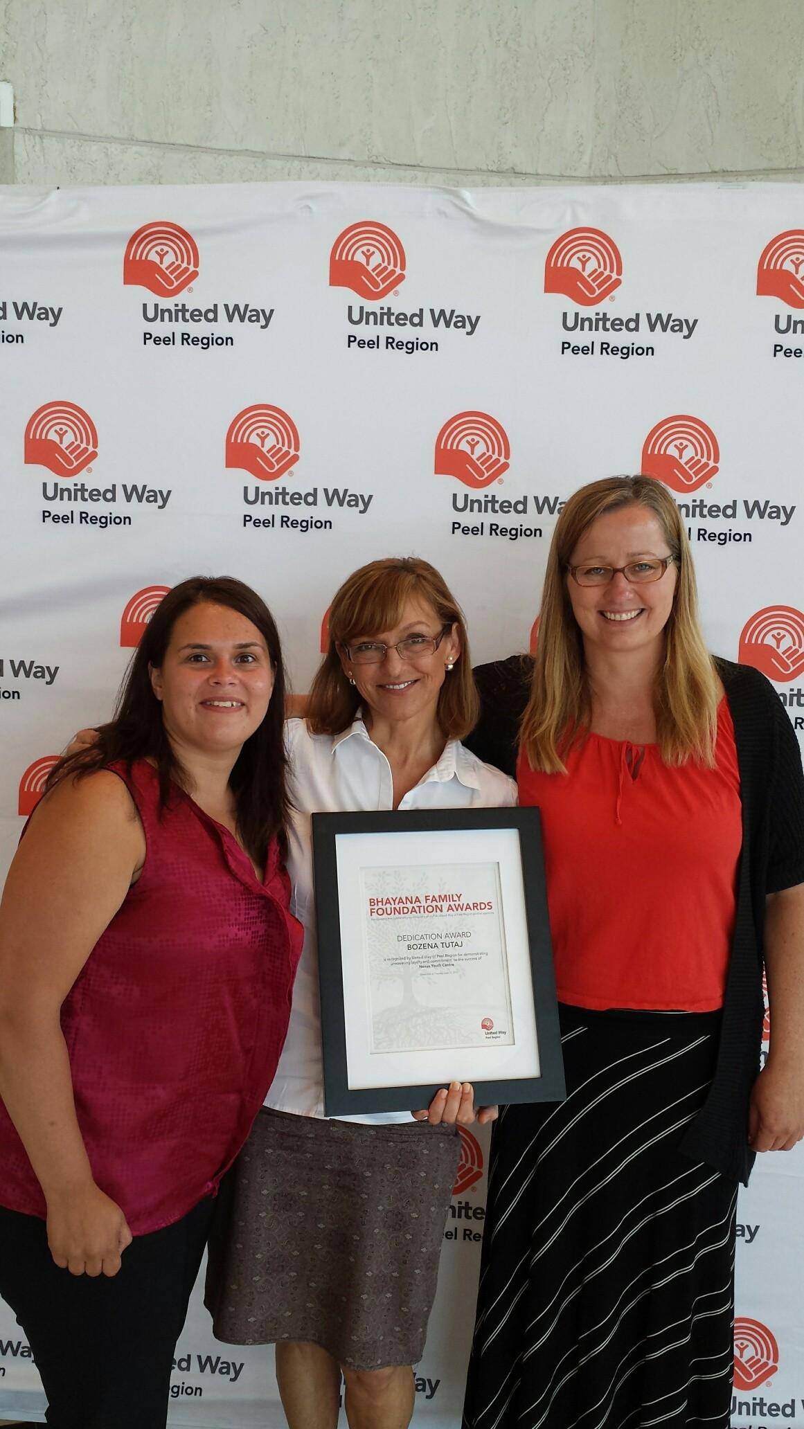 L-R: Nancy Hood, Bozena Tutaj and Karen Anslow