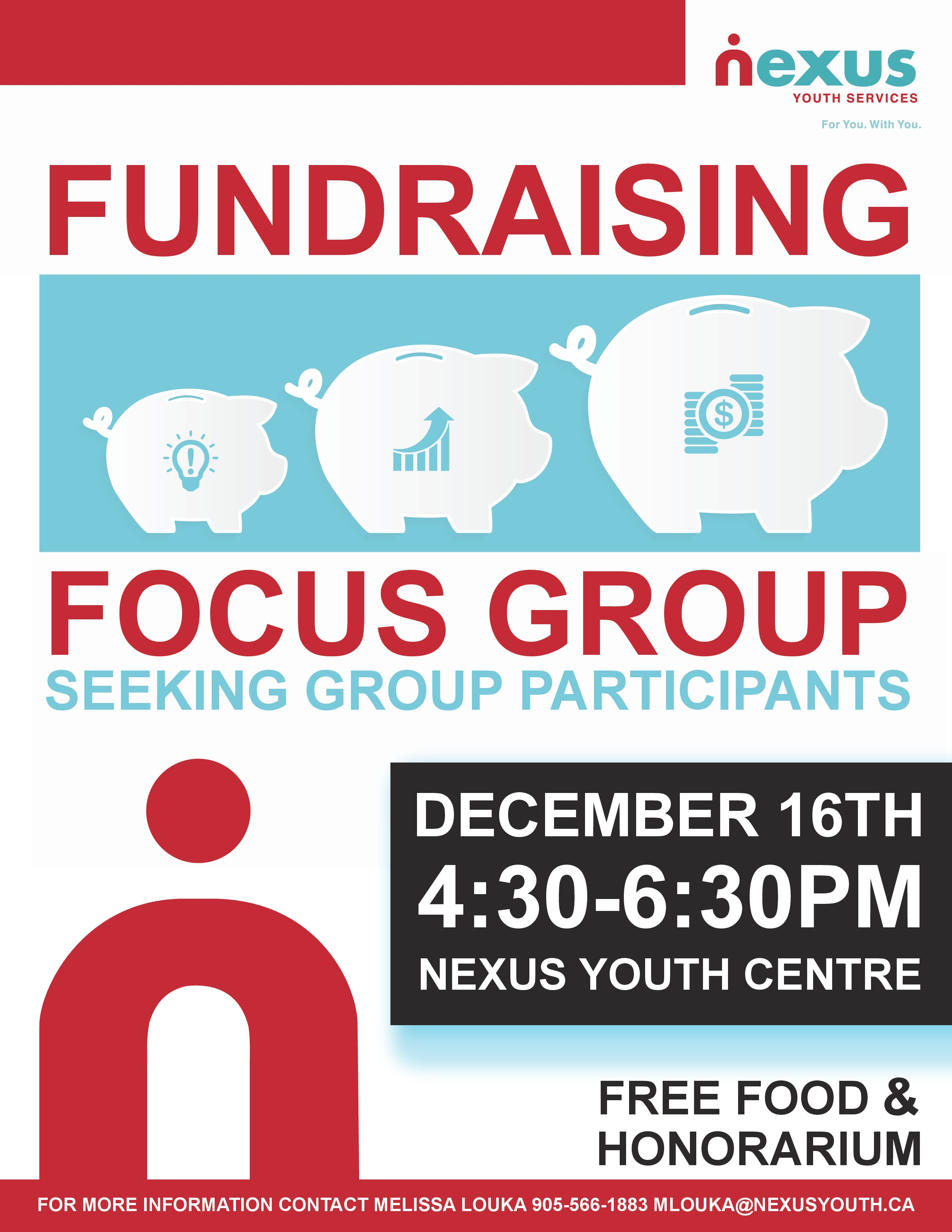 Fundraising focus group poster