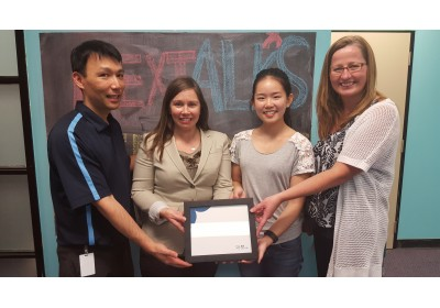 Nexus Supervisor John Choi, Kristine Wilson, Peer Youth Worker Alice Mu & Nexus Manager Karen Anslow