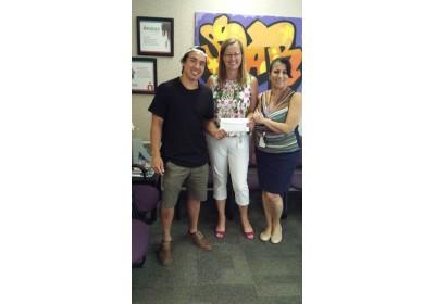 JJ Harland with Nexus Manager Karen Anslow & Development Coordinator Andrea Peca