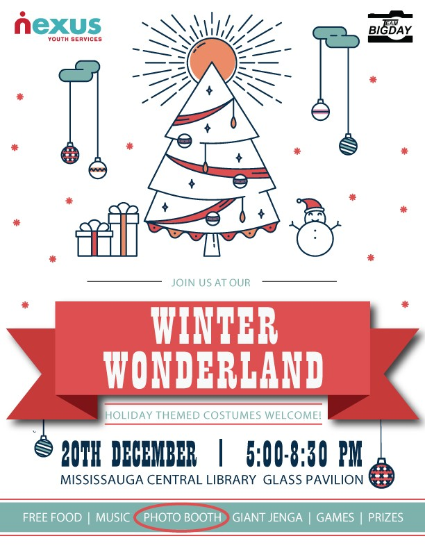 Nexus will host its Winter Wonderland holiday party on December 20, 2017.