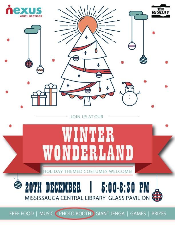 Nexus will host its Winter Wonderland holiday party on December 20, 2017.