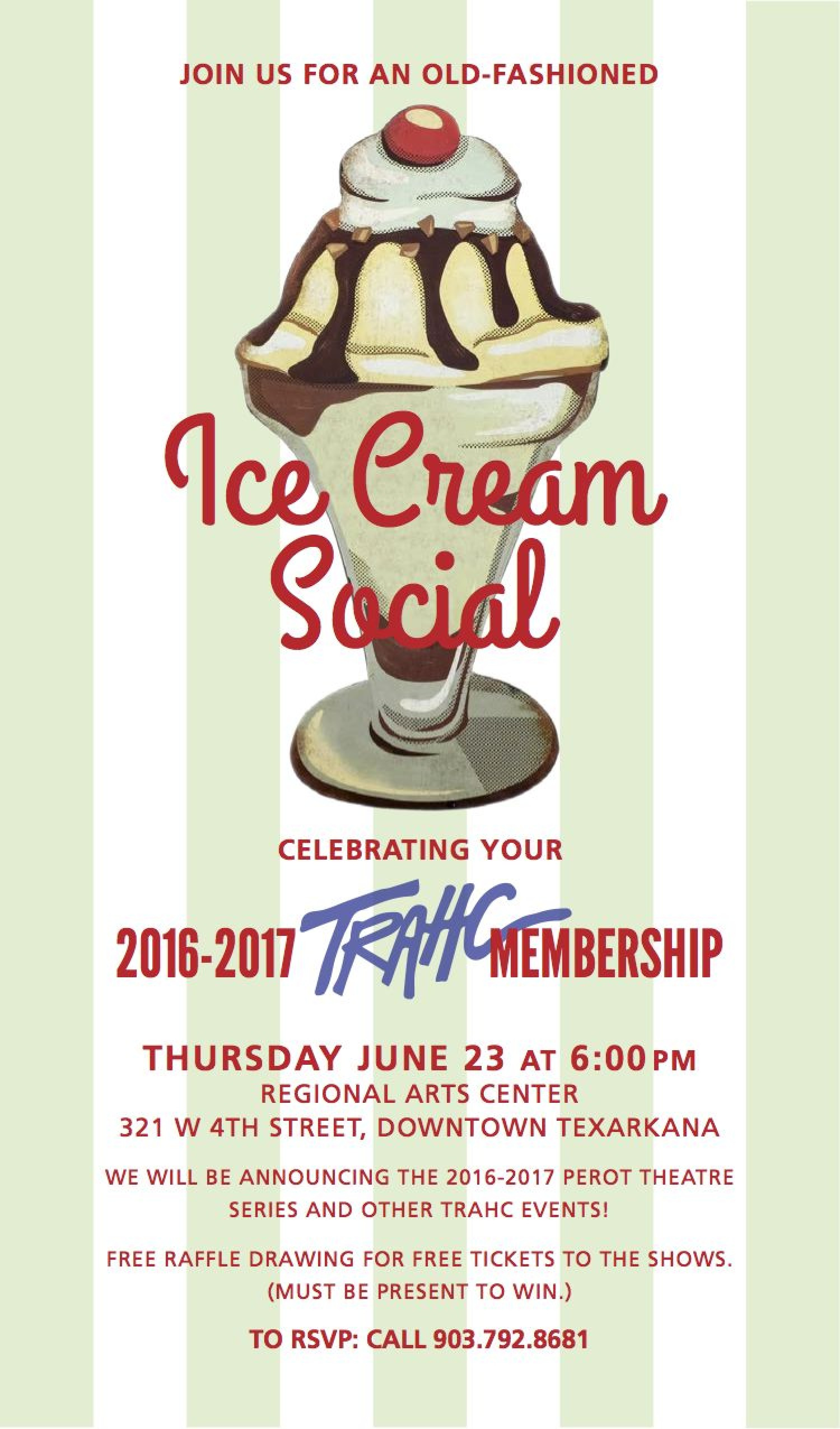 join trahc for ice cream social on june 23 news releases trahc