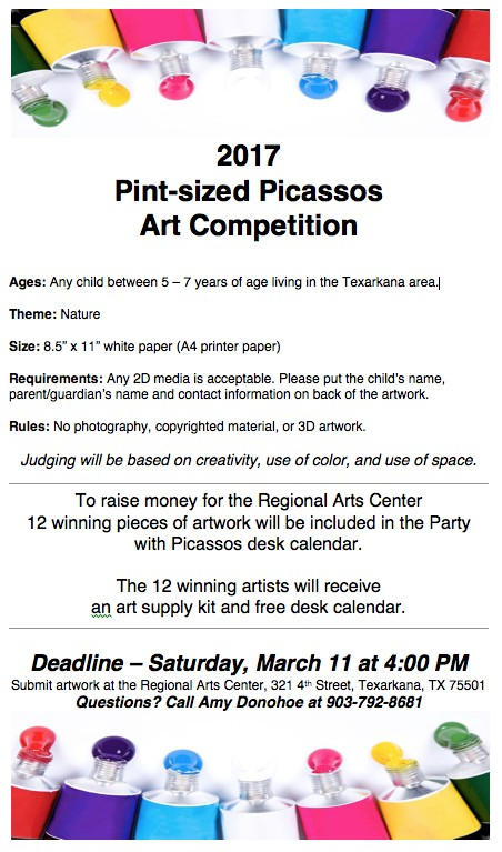 2017 Pint-sized Picassos Art Competition