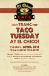 TRAHC Fundraiser El Chico Flyer