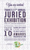 27th Annual Juried Exhibit Opening Reception Graphic