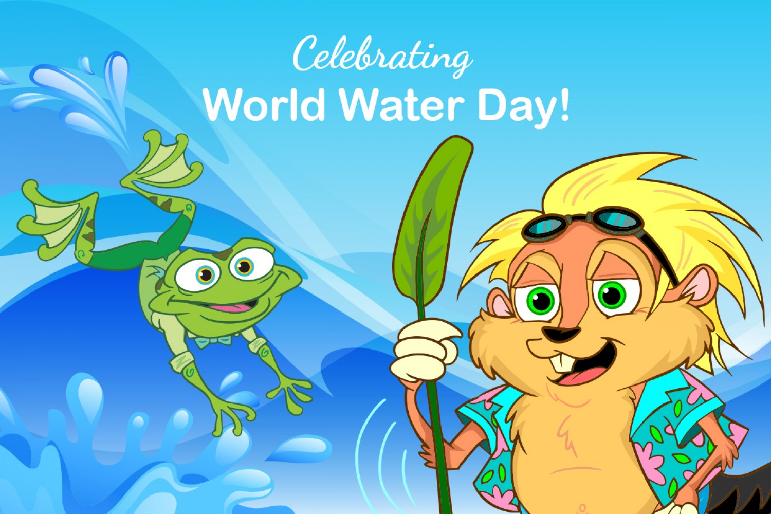 Water is super important. We need fresh water to drink and to live. World  Water Day is a good time to think about how we use water.