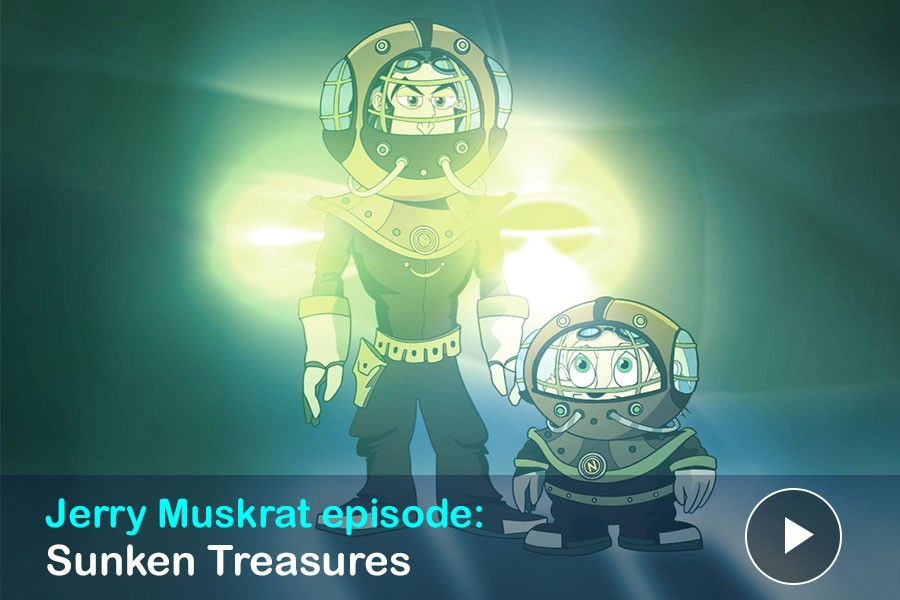 """Watch: Jerry Muskrat's episode """"Sunken Treasures: Jerry Muskrat and Captain Nemo at the Shipwrecks of The Hamilton & Scourge"""""""