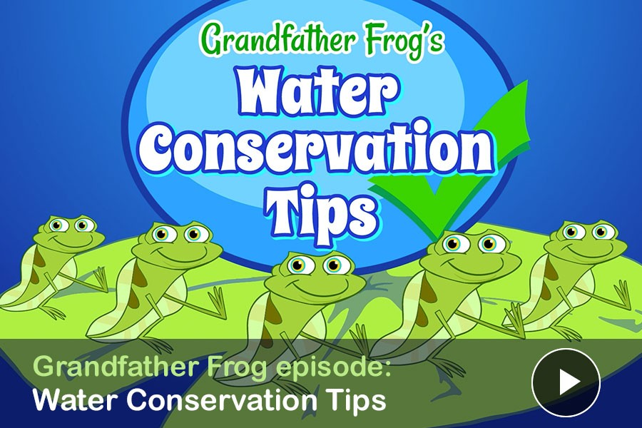 WATCH: Grandfather Frog's Water Conservation Tips