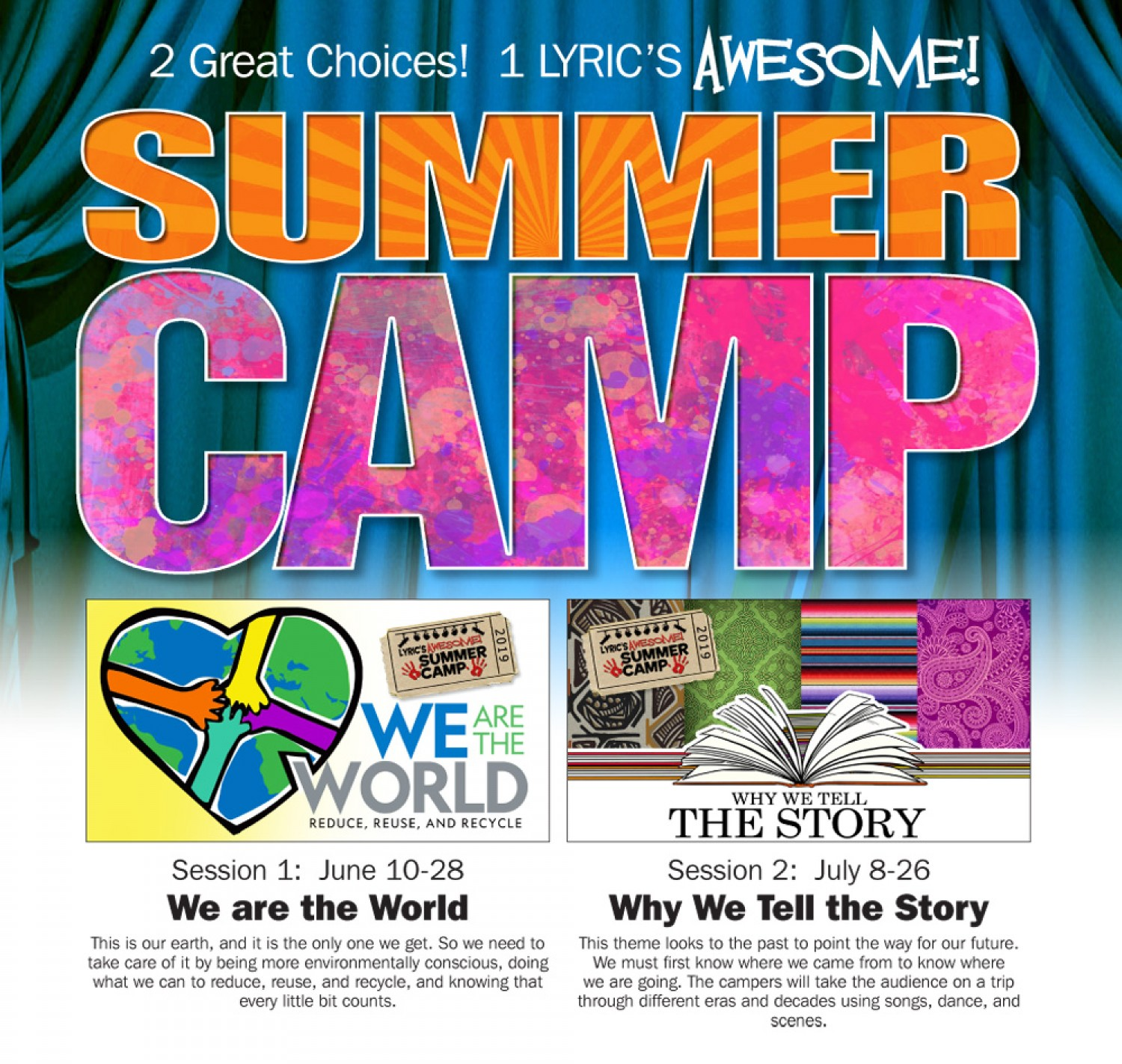AWESOME! Summer Camp   The Lyric Theatre