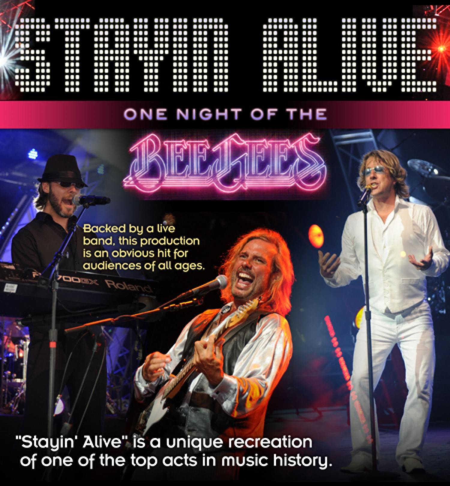 Stayin Alive One Night Of The Bee Gees News The Lyric Theatre