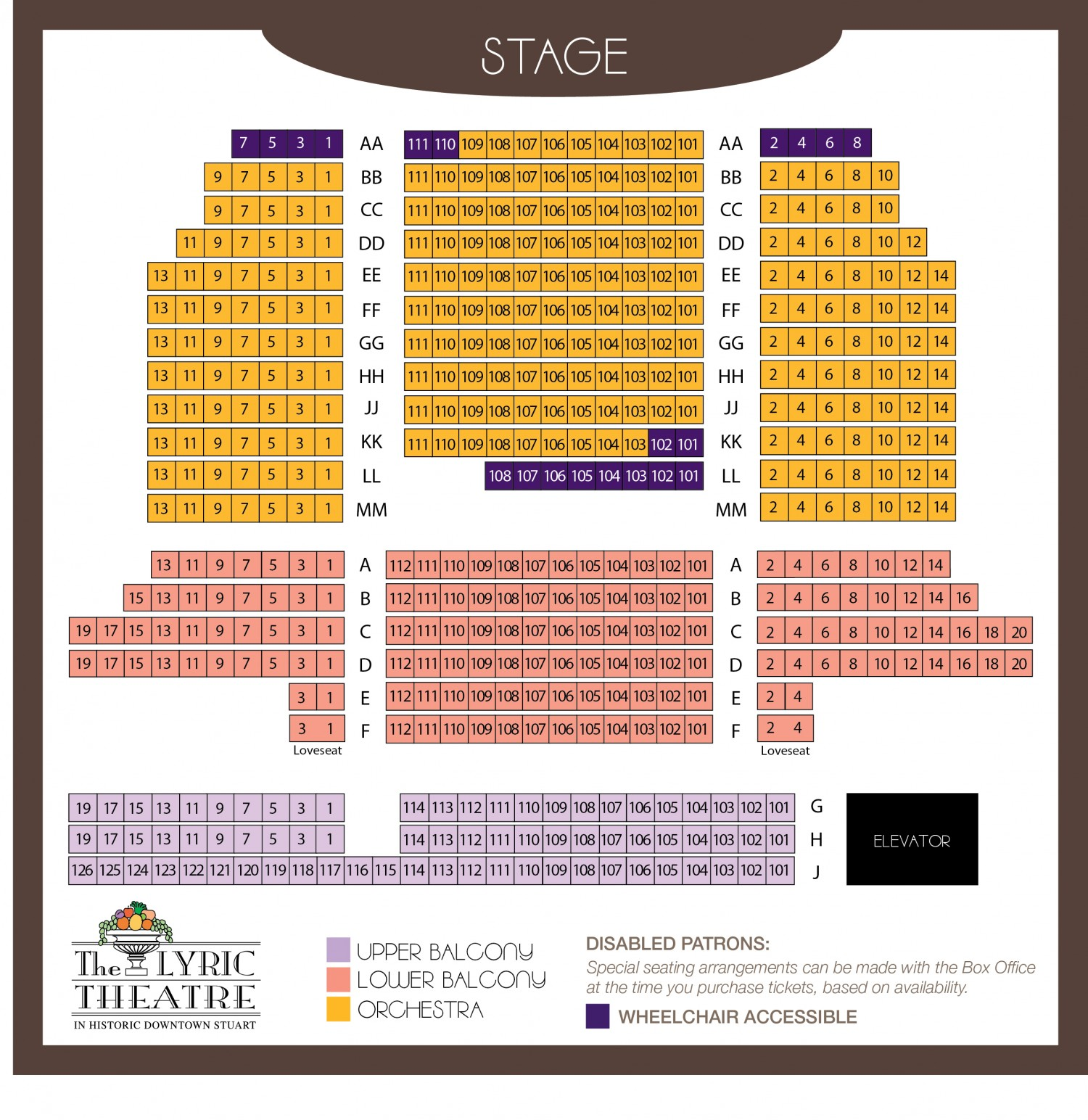 Jupiters Casino Seating Plan